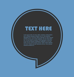 Icon of quotation speech bubble template with vector