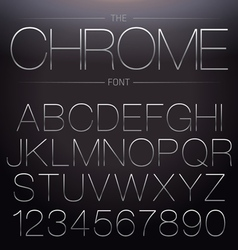 Thin chrome font vector