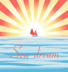 Beautiful of sea landscape wit vector