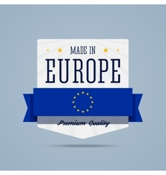 Made in europe badge vector