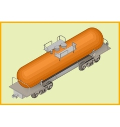 Istern railway tank fuel transportation vector