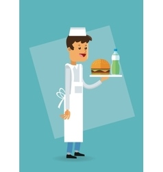 Delicius food chef icon delivery concept vector