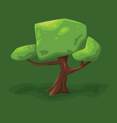 a tree with a large crown vector image