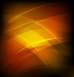 Abstract background with orange line wave vector