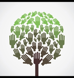 abstract hand tree vector image