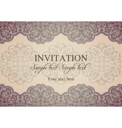 Baroque invitation patina vector