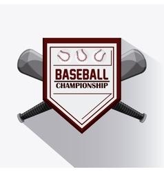 Baseball design sport concept Flat vector image vector image
