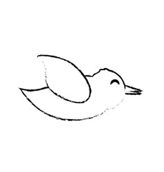 Bird romance symbol sketch vector