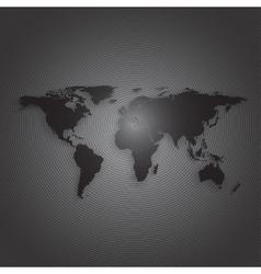 Black world map on dark background textured vector