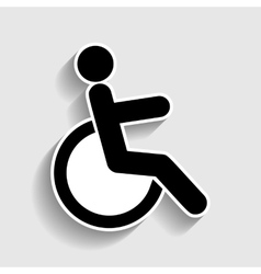 Disabled sign sticker style icon vector