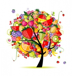 energy fruit tree vector image vector image