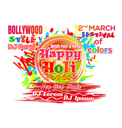 Holi - indian festival of colors and spring 2018 vector