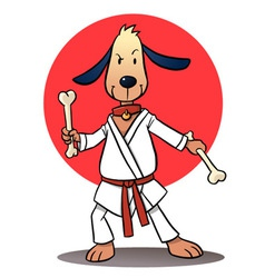Karate dog vector