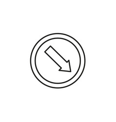 Lane right road sign icon vector