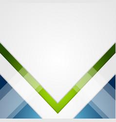 Minimal tech geometric green blue background vector