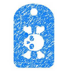morgue mark grunge icon vector image