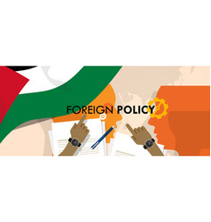 Palestine foreign policy diplomacy international vector