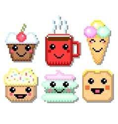 Pixel sweet set vector image vector image