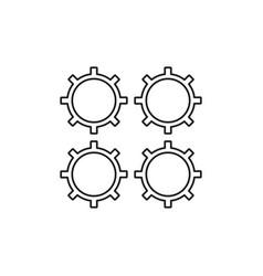 process icon vector image