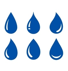 set of water drops vector image vector image