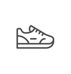 sneaker line icon vector image