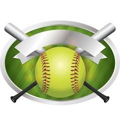 Softball champions emblem vector
