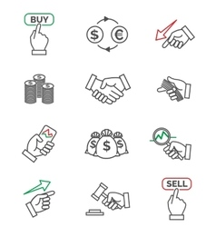 Stock line icons vector image
