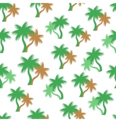 Tropical palm trees seamless pattern vector image
