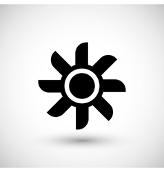 Ventilation propeller icon vector