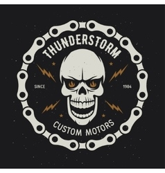 Vintage motorcycle t-shirt graphics Thunderstorm vector image