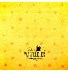 Watercolor polka dot pattern yellow orange and red vector image vector image