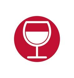 Wine glass simplistic black and white icon vector