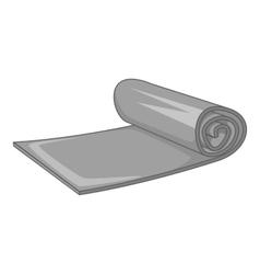 Yoga mat icon gray monochrome style vector