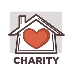 Donation and volunteer work icon vector
