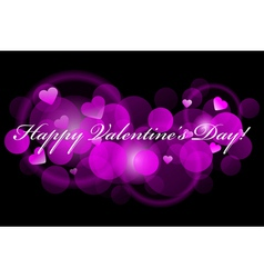 Happy valentines day - pink background vector