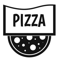 Pizza badge or signboard icon simple style vector