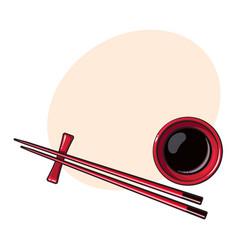 Bamboo asian chinese japanese chopsticks lying vector