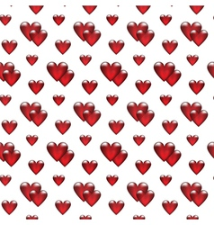 seamless background with glass hearts vector image