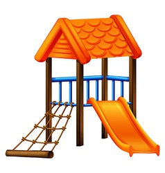 A play area at the park vector