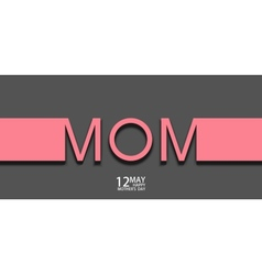 Modern 12 may mothers day background vector