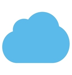 Cloud flat blue color icon vector