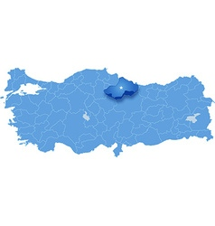 Map of turkey tokat vector