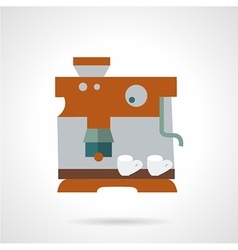 Flat color coffee maker icon vector