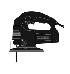 Electric jigsaw tool silhouette vector