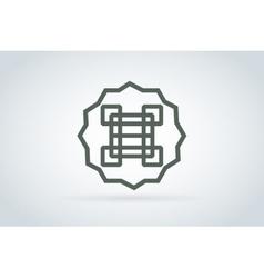 Royal logo abstract monogram template vector