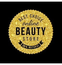 Beauty store emblem with type design vector