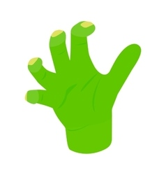 Witchs green hand isometric 3d icon vector