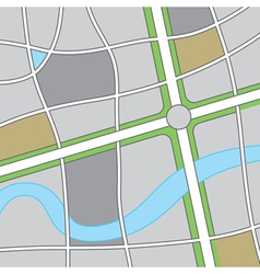 Roadway map vector