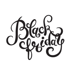 Black friday handmade lettering calligraphy total vector