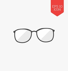 Glasses icon flat design gray color symbol modern vector